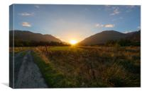 Glen Lyon Sunset, Canvas Print