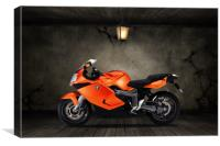 BMW K1300S Old Room, Canvas Print