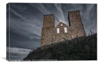 Reculver Towers by moonlight, Canvas Print