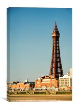 Blackpool Tower and seafront, Canvas Print