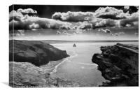 Tintagel Castle Cornwall, Canvas Print