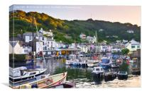 Polperro afterglow, Canvas Print