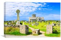 St Materiana's Church, Tintagel, Canvas Print