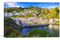 Pretty in Polperro, Canvas Print