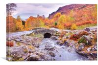 Autumn at Ashness Bridge, Canvas Print