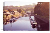 Boats on the River Dart at Totnes, Canvas Print