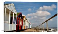 Multi Coloured Beach Huts SouthWold Suffolk, Canvas Print