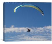 Hang-gliding over the Kentish Downs, Canvas Print