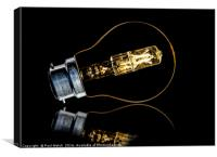 Light Bulb Without Wires, Canvas Print