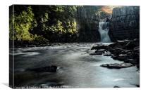 High Force Waterfall , Canvas Print