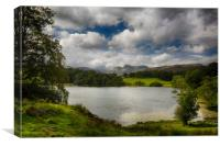 Loughrigg Tarn in Lake District, Canvas Print