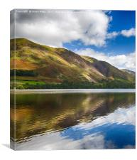 Reflections in Buttermere in Lake District, Canvas Print