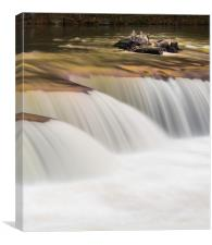 Abstract rendition of heavily flooded waterfall, Canvas Print