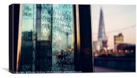 The Shard and the Millennium Measure, Canvas Print