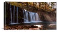 Waterfall in the Brecon Beacons national park , Canvas Print