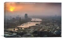 The Mists of a London Sunset, Canvas Print