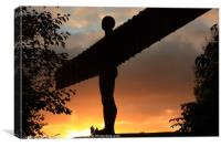 Angel of the North Sunset, Newcastle-Gateshead, Canvas Print