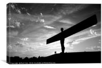Angel of the North, Newcastle-Gateshead, Tyne and , Canvas Print