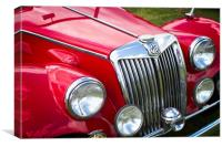 Red MGA Vintage Classic Sports Car, Canvas Print