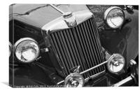 Classic MG Type T Sports Car, Canvas Print