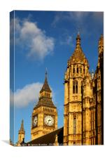 Palace of Westminster and Big Ben detail London, Canvas Print