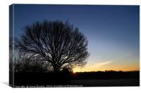 Winter Sunrise in the Weald of Kent, Canvas Print