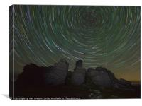 Perseids over Hound Tor I, Canvas Print