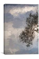 cloudy sky on the hilly, Canvas Print