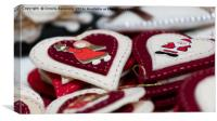 Christmas decorations with heart, Canvas Print