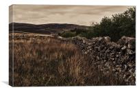 Dry Stone Wall, Canvas Print