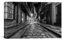 The Shambles, York : 02 of 07 Images (B&W), Canvas Print