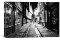 The Shambles, York : 03 of 07 Images (B&W), Canvas Print