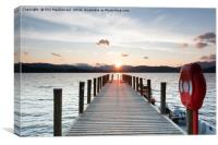 Sunset Jetty, Windermere in the UK Lake District, Canvas Print