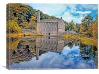 gibson mill in hardcastle craggs west yorkshire, Canvas Print
