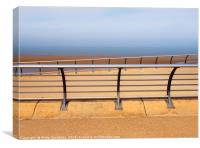 seafront  railings, Canvas Print