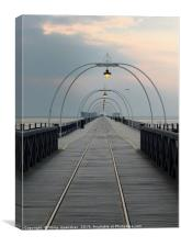 twilight - southport pier, Canvas Print