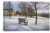 Polesden Lacey in winter, Canvas Print