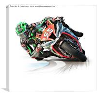 Motorcycle Racing, Canvas Print