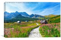 Gasienicowa Valley in Tatry mountains, Poland, Canvas Print