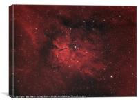 Emission nebula Sh2-86 and star open cluster NGC 6, Canvas Print