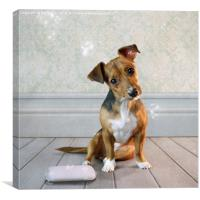 Caught in the Act, Canvas Print