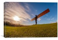 The Angel from a fisheye view, Canvas Print