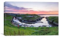 Low Tide at Seaton Sluice, Canvas Print