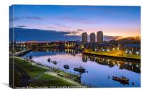 Blue hour at the quayside, Canvas Print