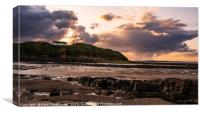 Stormy Sunset at Low Hauxley, Canvas Print