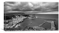 Dramatic Skies at Staithes, Canvas Print