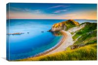 Jurassic Coastline around Durdle Door, Canvas Print