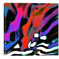 into the fold, undulations of time colliding with , Canvas Print