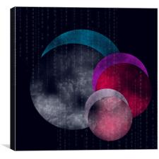 Abstract planets, Canvas Print