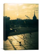 Sunset at the Palace Square, St. Petersburg, Canvas Print